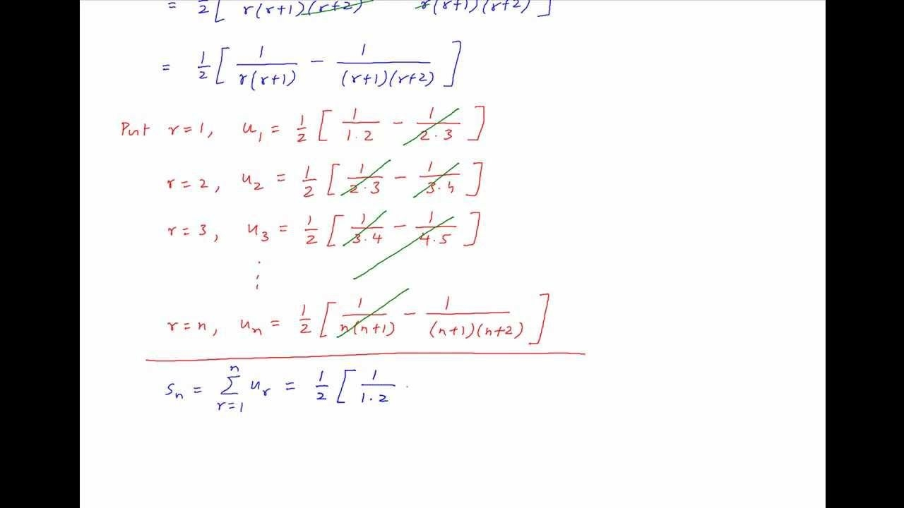 sum to n terms 1/(1 2 3) 1/(2 3 4) 1/(3 4 5