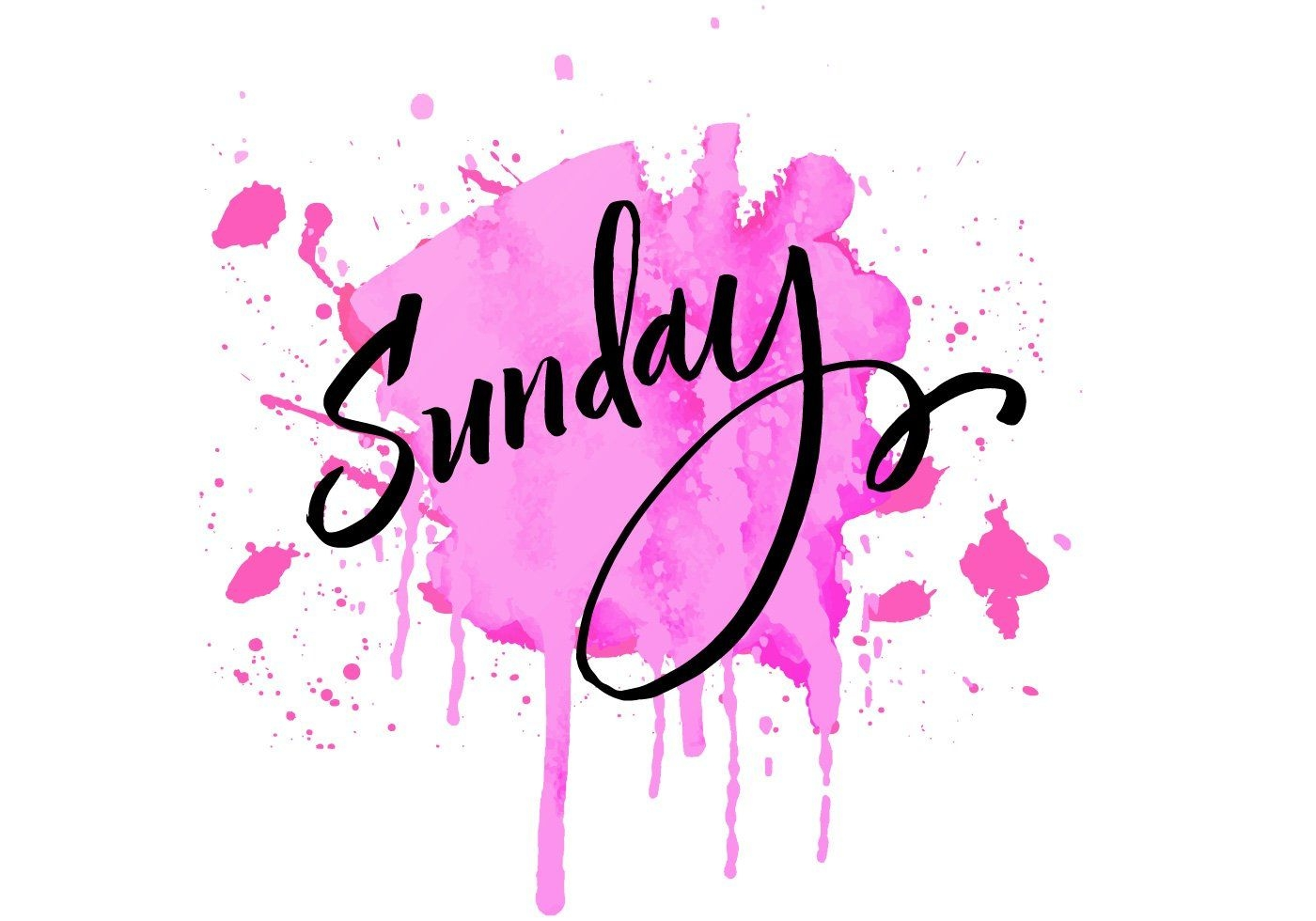 Sunday Lettering Watercolor Download Free Vectors