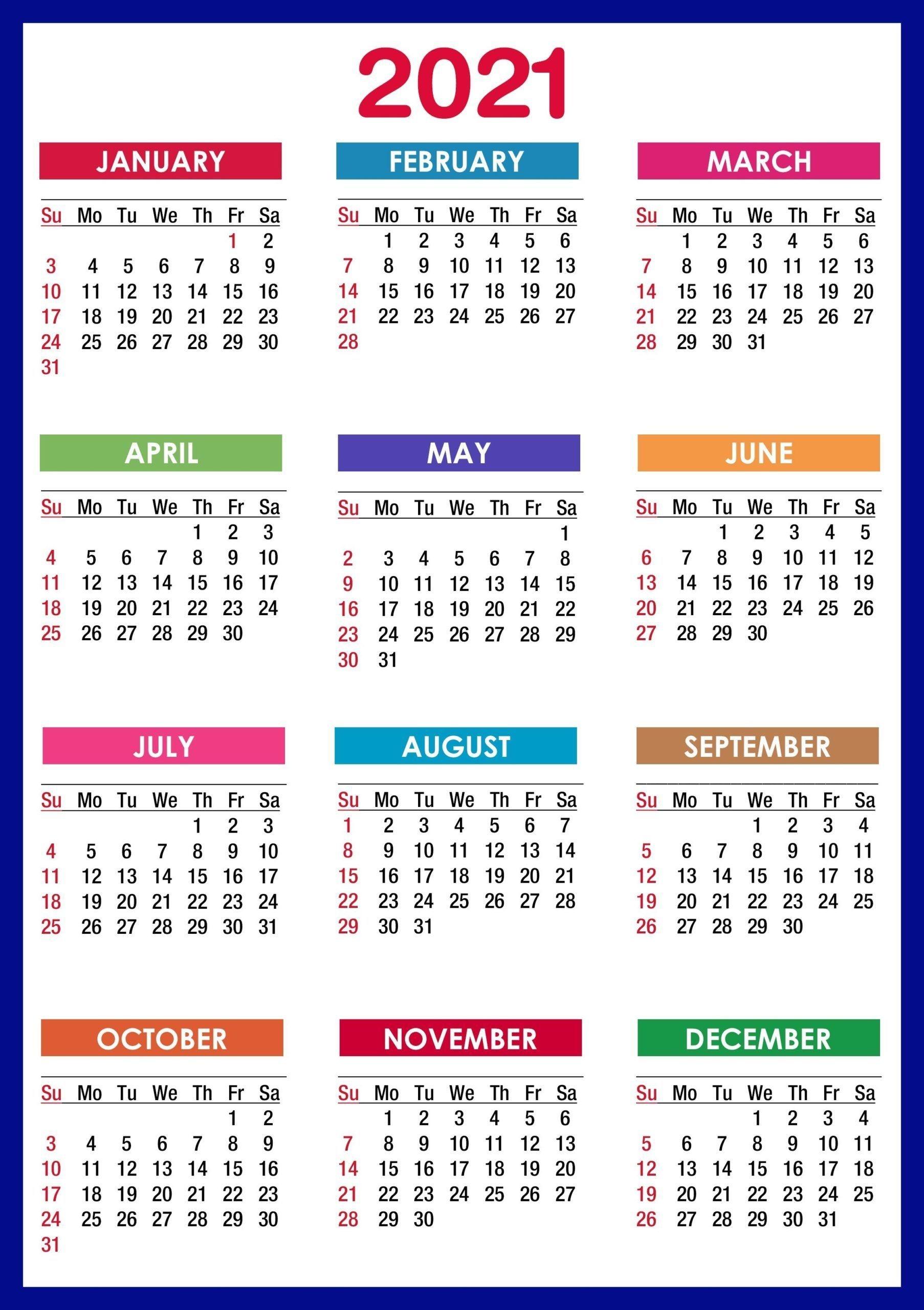 sunday to saturday calendar 2021 printable | calendar