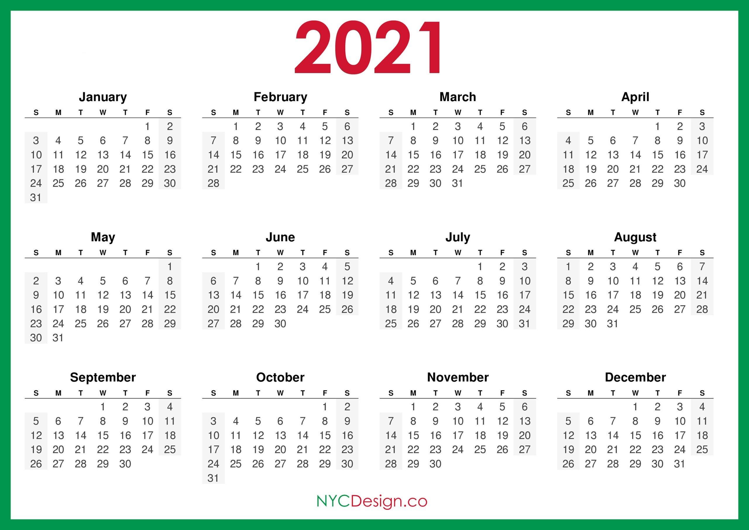 sunday to saturday monthly calendar 2021 | calendar
