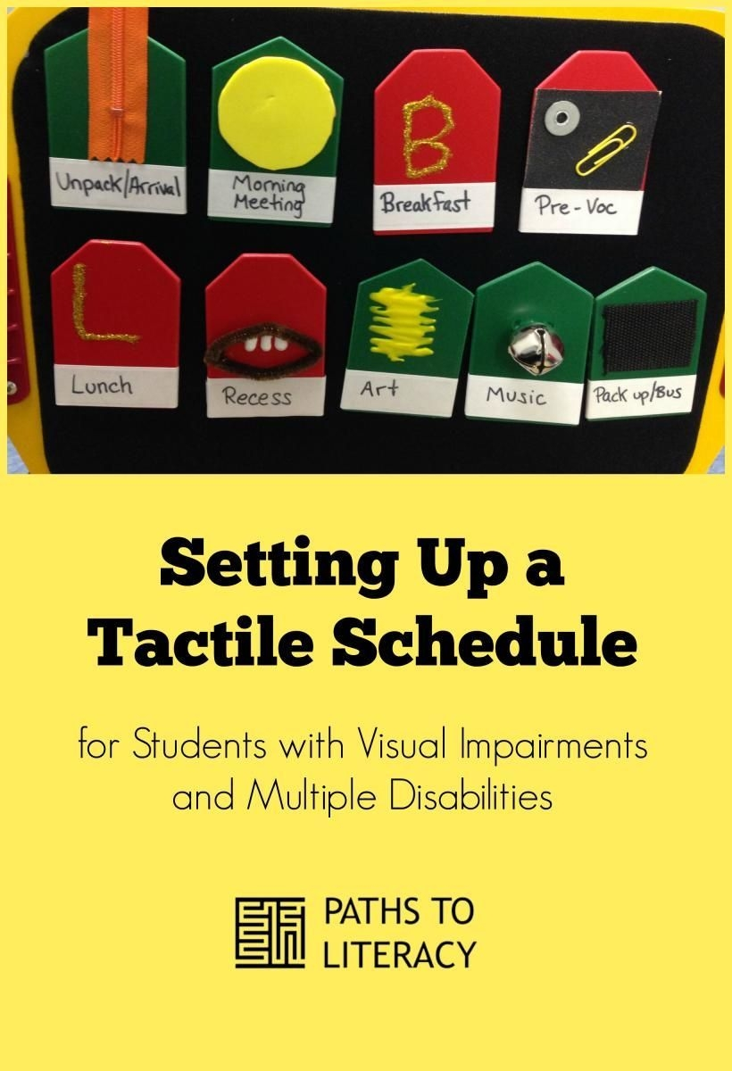 tactile schedule for students with visual impairments and