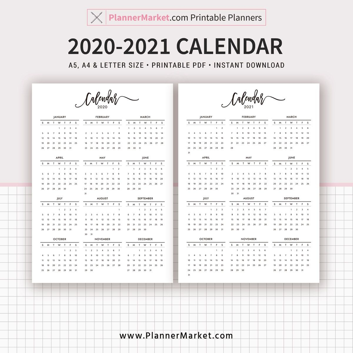 Take Year At A Glance Calendar For Printing 2020