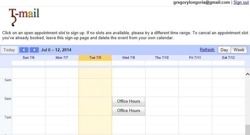 teach tech: google calendar | appointment slots