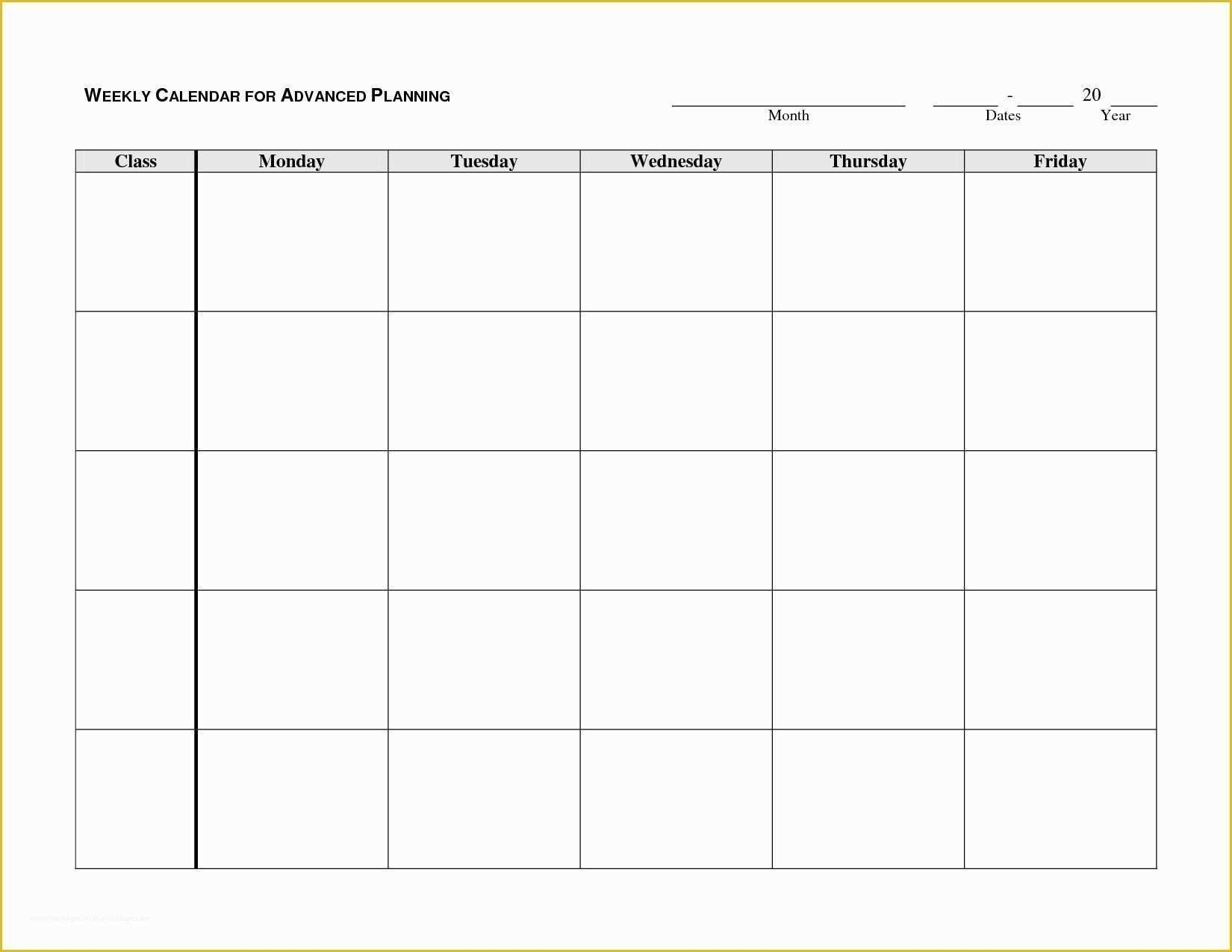 The Free Printable Monday Thru Sunday Calendars | Get Your