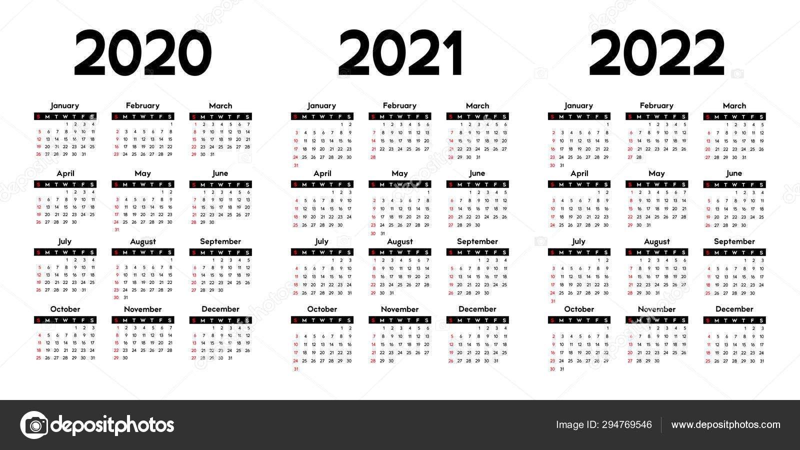 Three Year Printable Calendar 2020 To 2023 | Calendar