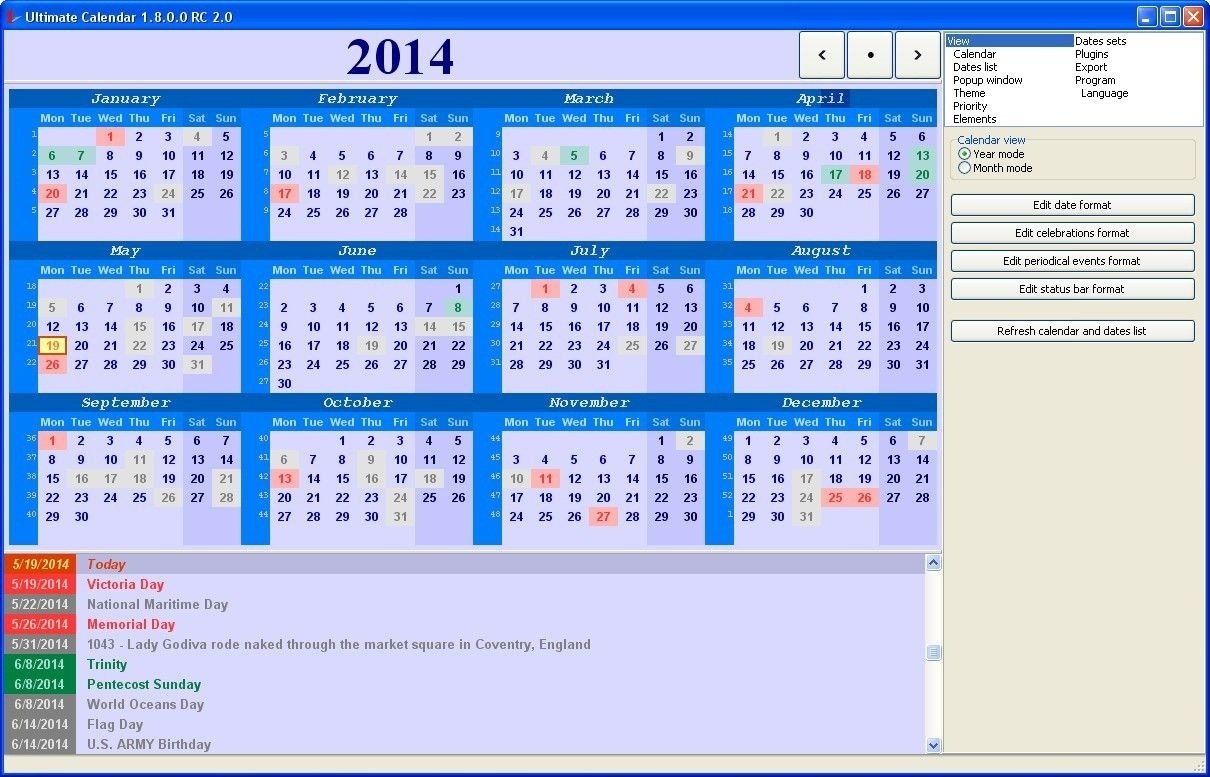Ultimate Calendar Download For Free Softdeluxe