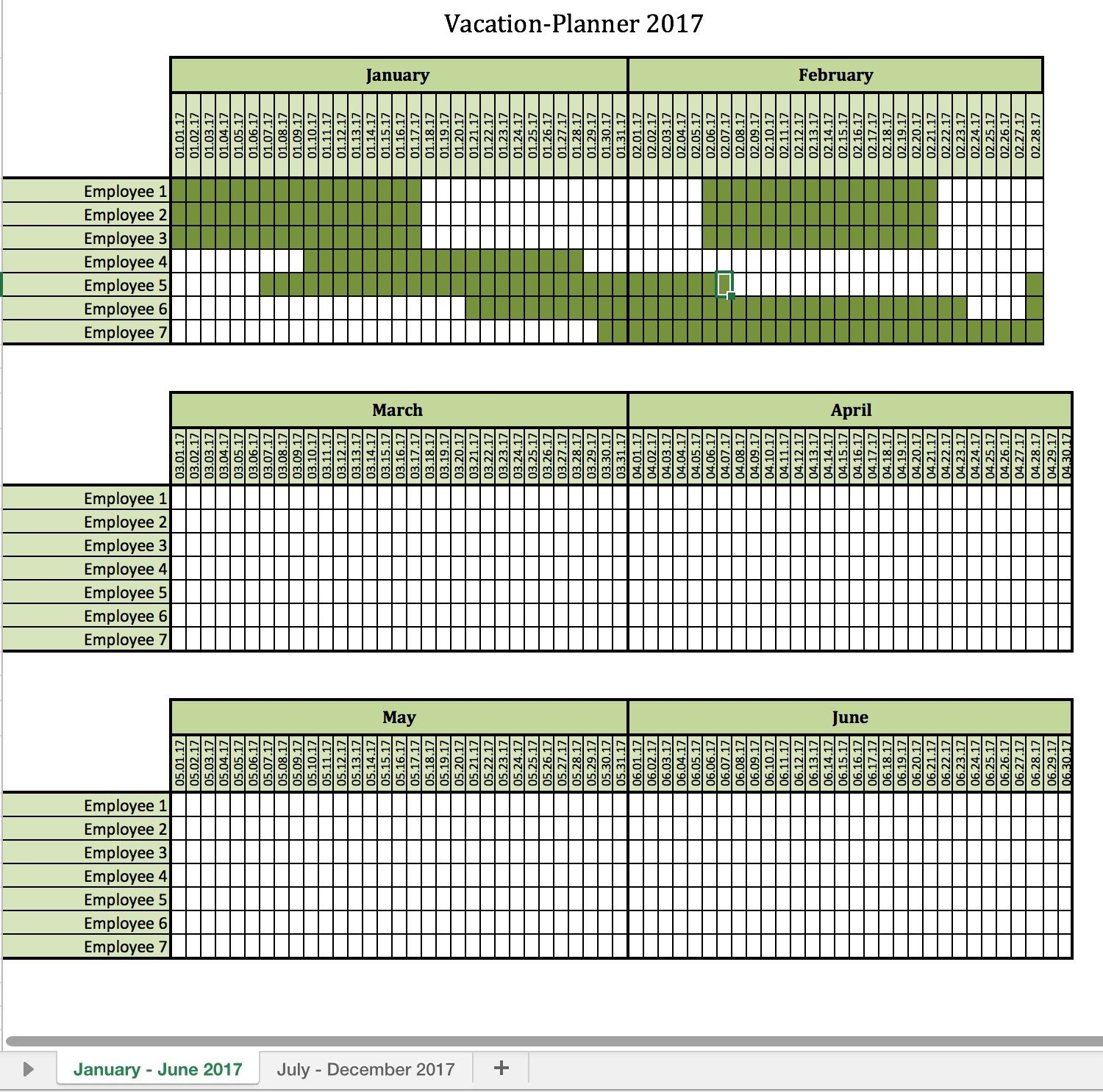 vacation calendar template for employees 4 exciting parts