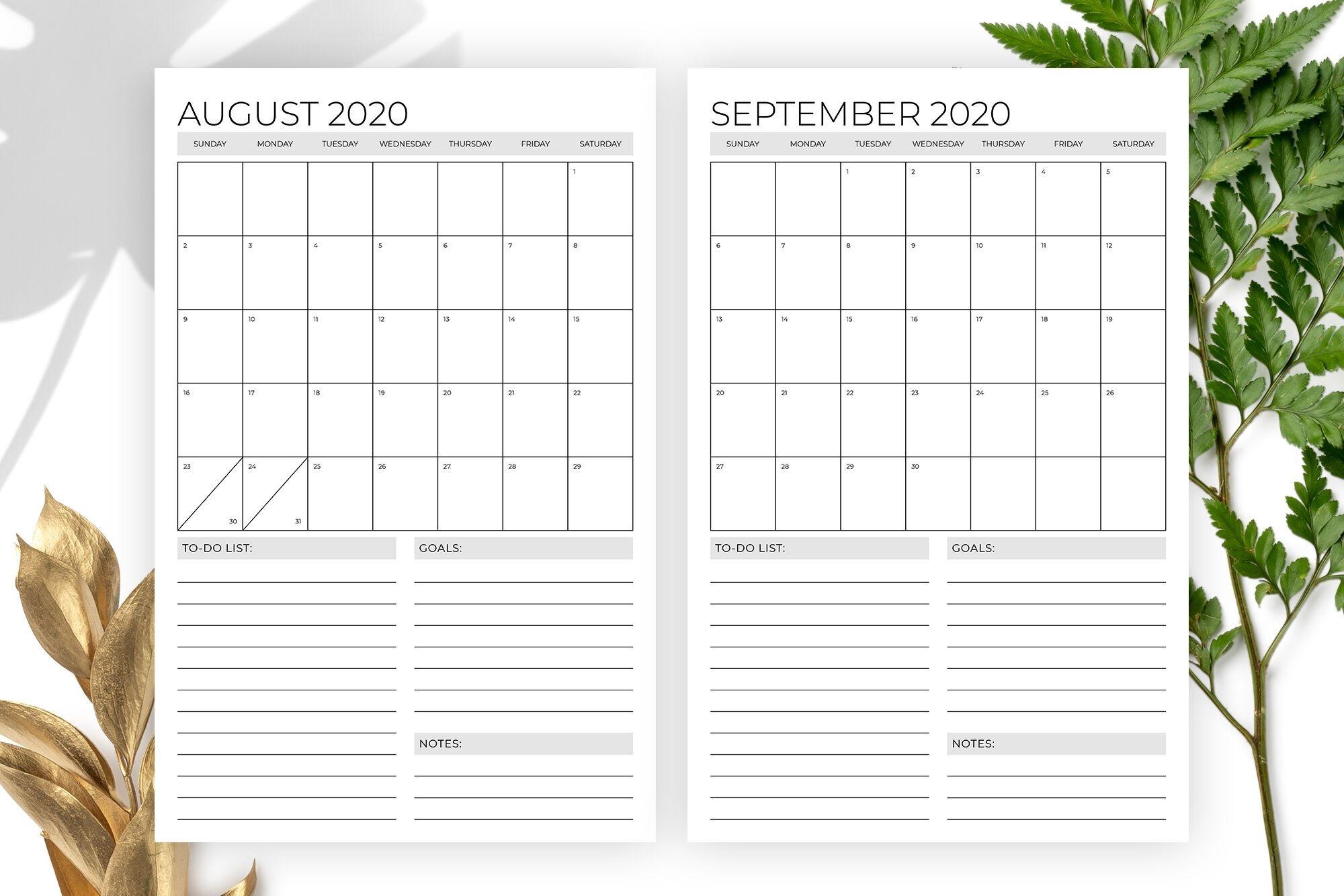 vertical 11 x 17 inch 2020 calendar templaterunning