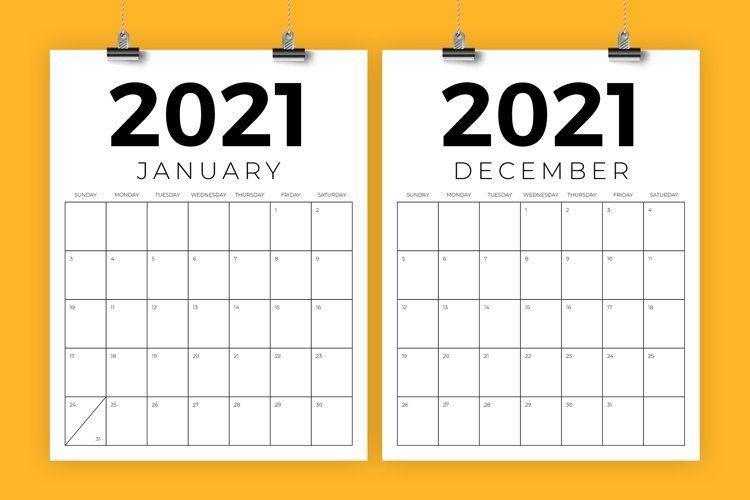 vertical 8 5 x 11 inch 2021 calendar (446916) | flyers