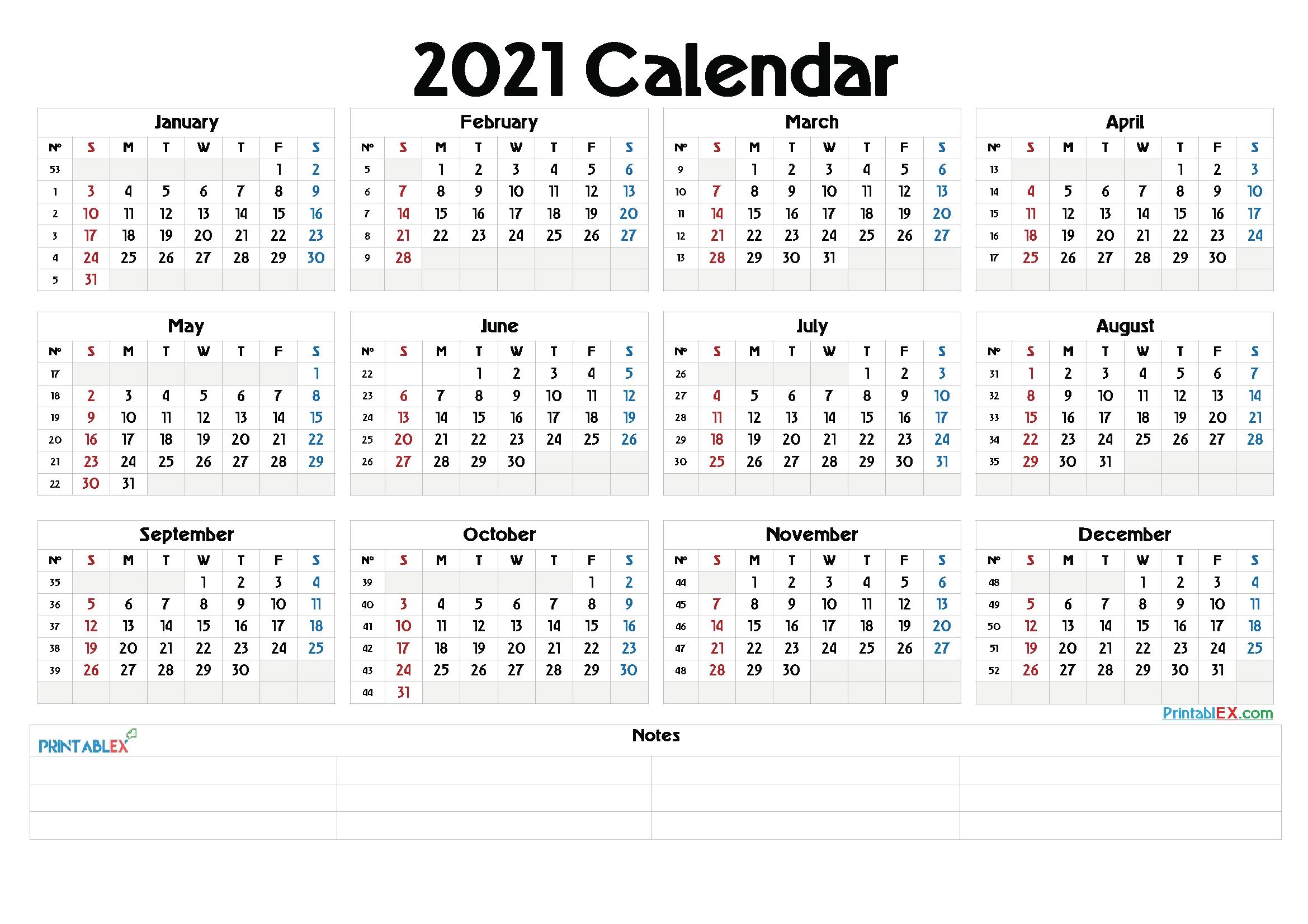 whole year calendar 2021   printable calendars 2021