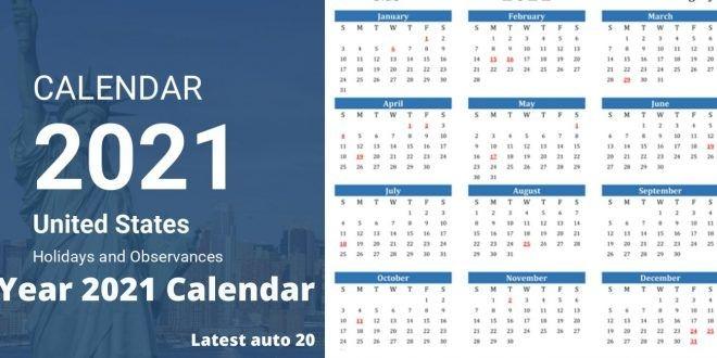 Year 2021 Calendar