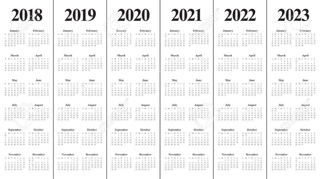 Yearly Calendar 2020 2021 2022 2023 Calendar Inspiration