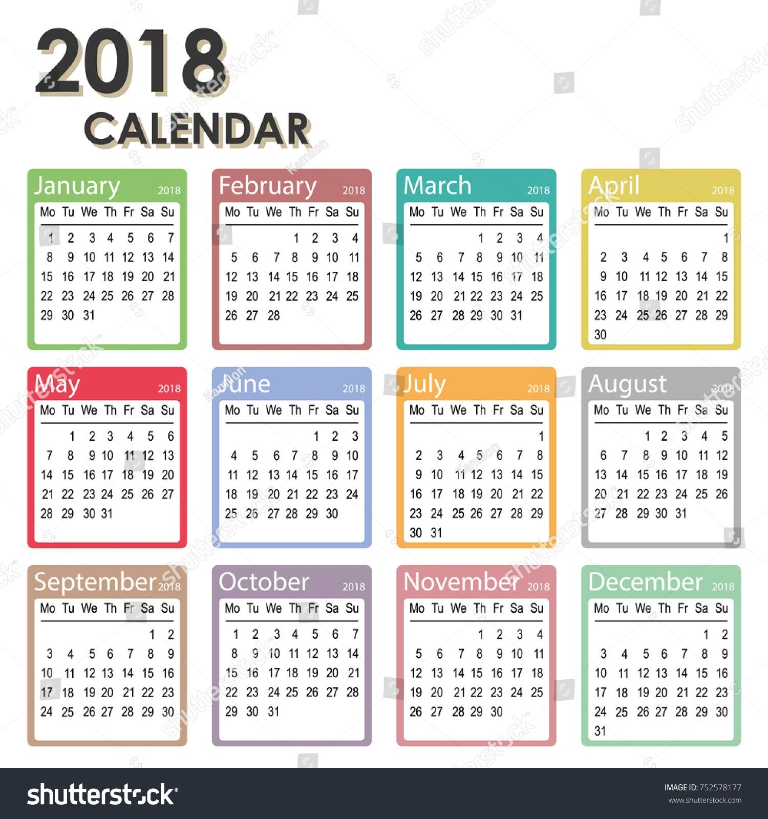 yearly calendar clipart
