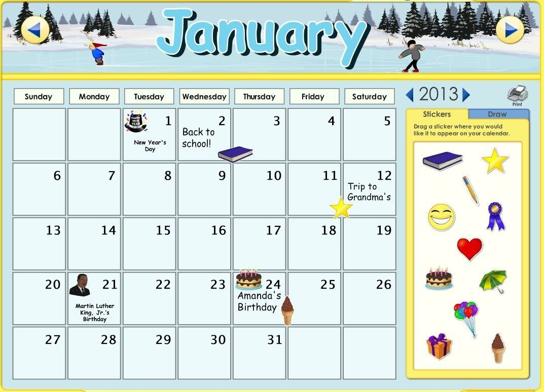 you can now customize the calendars on abcmouse! you